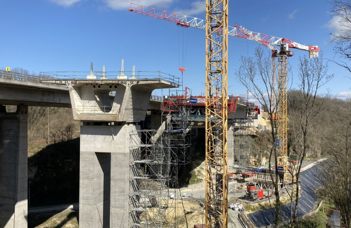 chantier viaduc du Courtineau
